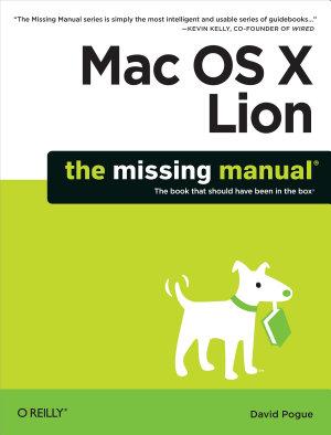 Mac OS X Lion  The Missing Manual PDF