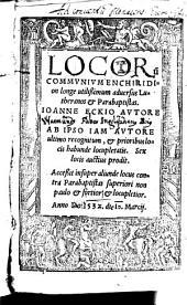 Enchiridion locorum communium adversus Lutheranos