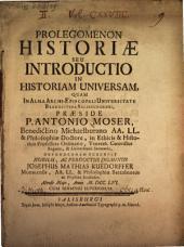Prolegomena historiae, s. introductio in historiam universam