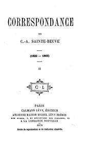 Correspondance de C.-A Sainte-Beuve (1822-1865)