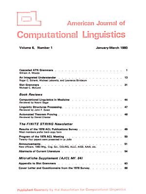 American Journal of Computational Linguistics