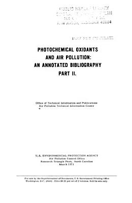Photochemical Oxidants and Air Pollution PDF