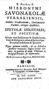 Epistolae spirituales et asceticae
