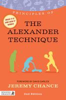 Principles of the Alexander Technique PDF