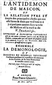 L' Antidemon de Mascon: Ensemble la Démonologie