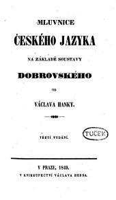 Mluvnice českého jazyka na základě soustavy Dobrovského