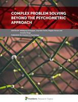 Complex Problem Solving Beyond the Psychometric Approach PDF