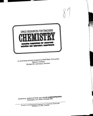 Chemistry  Including Suggestions for Classroom Activities and Laboratory Experiments