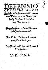 Defensio Ceremoniarum Ecclesiae
