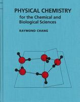 Physical Chemistry for the Chemical and Biological Sciences PDF