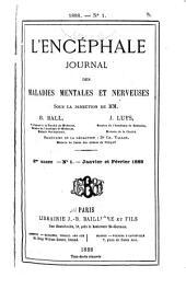 L'Encéphale: journal des maladies mentales et nerveuses, Volume8