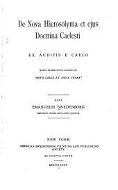 De nova hierosolyma et ejus doctrina caelesti ...: Volume 41; Volume 916