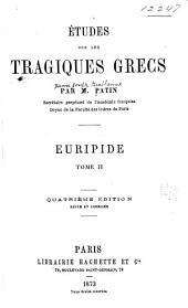 Études sur les tragiques grecs: livre III. Théâtre de Sophocle. 1870