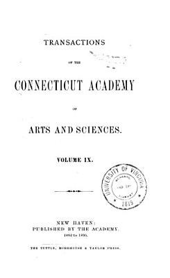 Transactions of the Connecticut Academy of Arts and Sciences