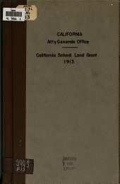 In the Matter of the Adjustment of the California School Land Grant: Communication to the Honorable, the Secretary of the Interior