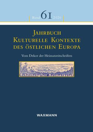 Jahrbuch Kulturelle Kontexte des   stlichen Europa PDF