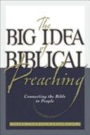 The Big Idea of Biblical Preaching