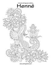 Livre de coloriage pour adultes Henné 1