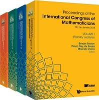 Proceedings Of The International Congress Of Mathematicians 2018  Icm 2018   In 4 Volumes  PDF