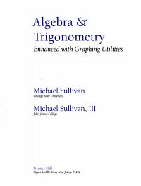 Algebra   Trigonometry Book