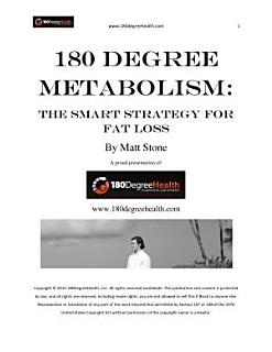 180 Degree Metabolism  The Smart Strategy for Fat Loss Book