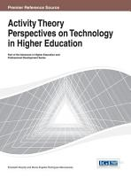 Activity Theory Perspectives on Technology in Higher Education PDF