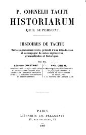 P. Cornelii Taciti Historiarum quae supersunt: Histoires de Tacite