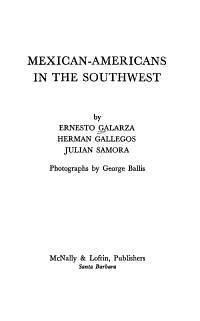 Mexican Americans in the Southwest PDF