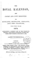 The Royal Kalendar and Court and City Register for England  Scotland  Ireland  and the Colonies for the Year     PDF