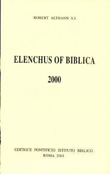 Elenchus of Biblica PDF