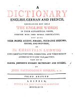 A Dictionary English, German and French