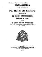 Reglamento para el gobierno interior del Teatro del Principe ...