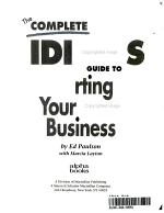 The Complete Idiot s Guide to Starting Your Own Business PDF