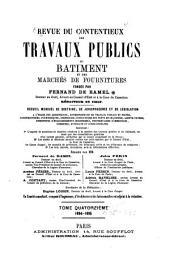 Revue du contentieux des travaux publics du batiment et des marchés de fournitures: Volume15