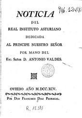 Noticia del Real Instituto Asturiano dedicada al principe nuestro señor