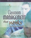 Classroom Management that Works PDF