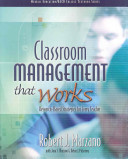 Classroom Management that Works Book