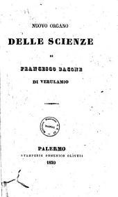 Nuovo organo delle scienze di Francesco Bacone di Verulamio