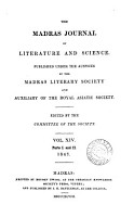 The Journal  afterw   The Madras journal of literature and science  ed  by J C  Morris PDF