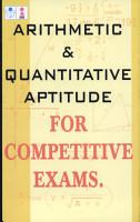 Arithmetic   Quantitative Aptitude for Competitive Exams PDF