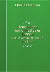 Histoire des marionnettes en Europe