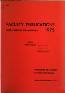 Faculty Publications and Doctoral Dissertations