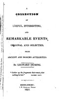 A Collection of Useful  Interesting  and Remarkable Events PDF