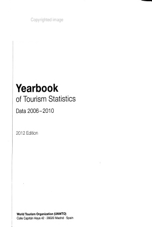 Yearbook of Tourism Statistics PDF