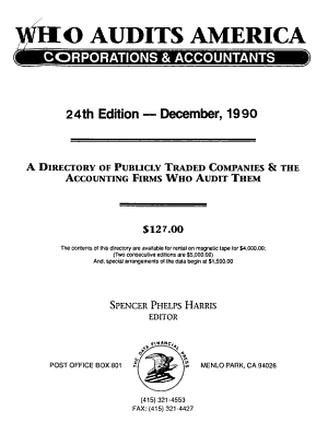 Who Audits America PDF