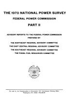 The 1970 National Power Survey  of The  Federal Power Commission PDF
