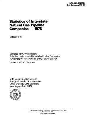 Statistics of Interstate Natural Gas Pipeline Companies PDF