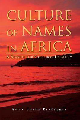 CULTURE OF NAMES IN AFRICA PDF