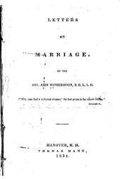 Letters on marriage