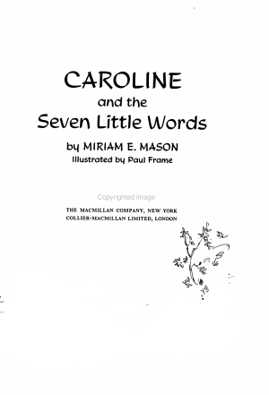 Caroline And The Seven Little Words